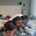 ERP_students with microscopes