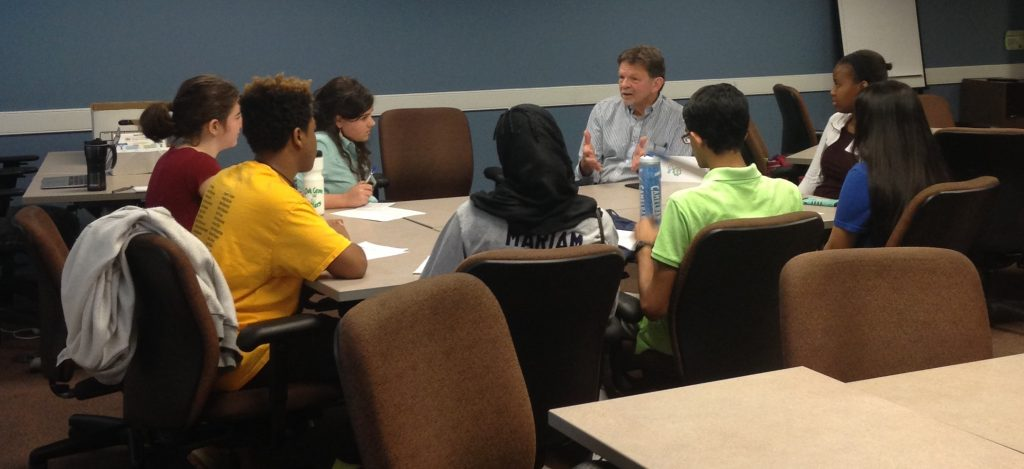 Don Moffitt, Durham City Council Member, answers student questions about being an elected official