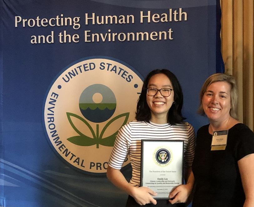 Emily Liu and Dana Haine