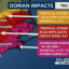 Hurricane Dorian impacts infographic