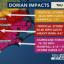 Hurricane Dorian impacts infographic