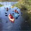 canoes in river