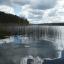 lake with algae