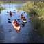 canoes in a river