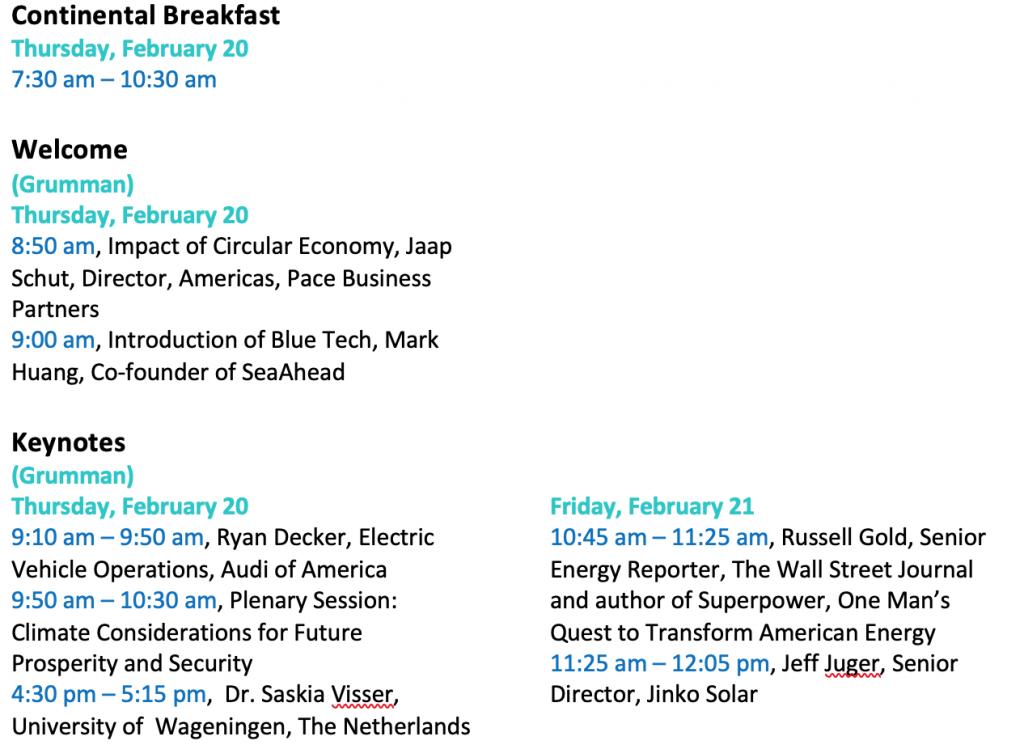 Revised Agenda UNC Clean Tech Summit