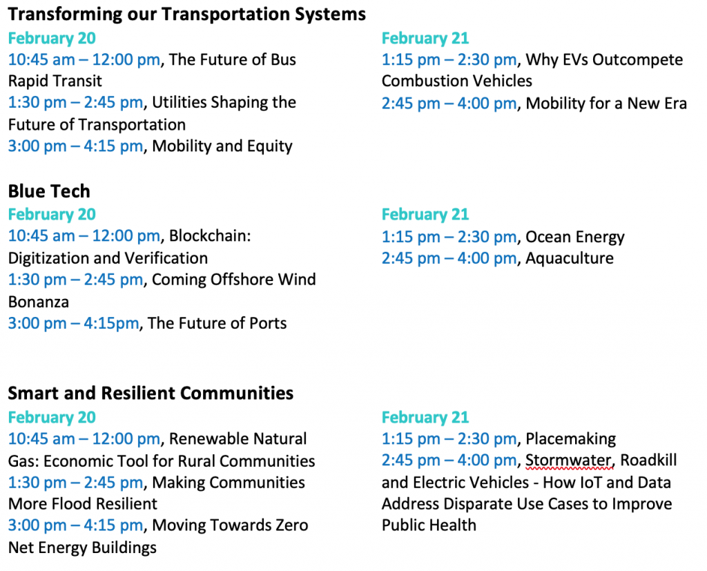 Revised PM Sessions UNC CLean Tech Summit