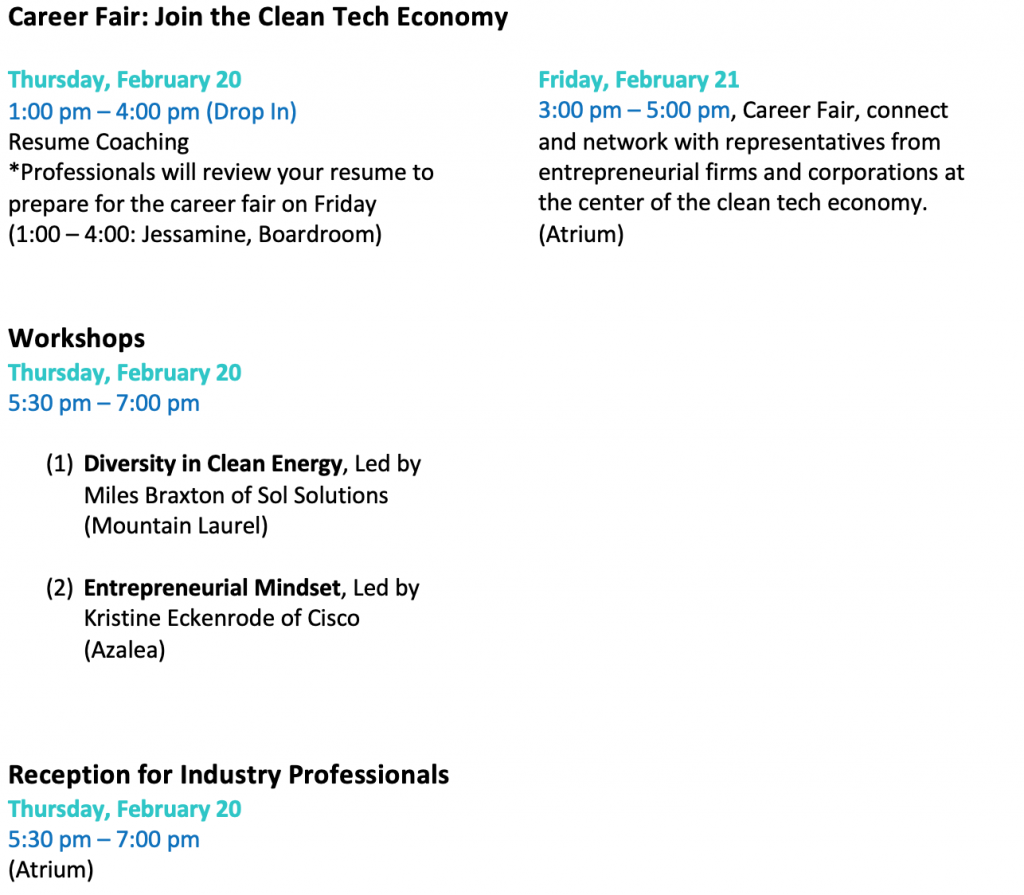 Revised UNC Clean Tech Summit