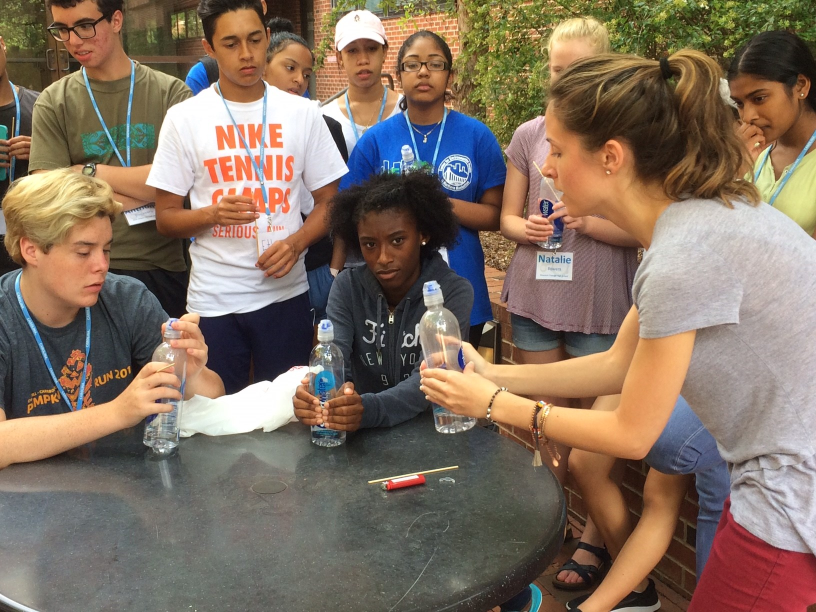 Youth learn about air pollution research taking place at UNC during the 2017 program that inspired YES-Resilience.