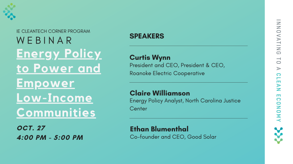 Energy Policy IE Cleantech Corner Program Updated