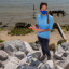 Stacy Zhang '12 conducts research on the North Carolina coast near Morehead City.