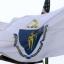 The Massachusetts state flag.
