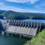 An example of hydropower, one type of renewable energy Assistant Professor Noah Kittner researches.